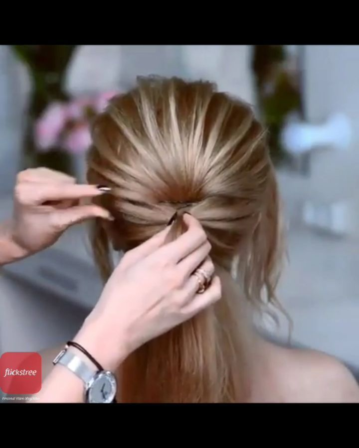 This Looks So Pretty For More Such Videos Related To Beautyandfashion Visit Our Website Or Download Our App Flickstre Hair Styles Hair Beauty Hair Tutorial