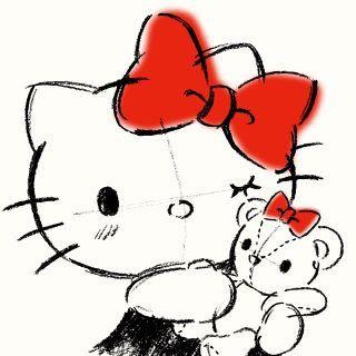 Hello Kitty #silhouette ( ´ ▽ ` )ノ