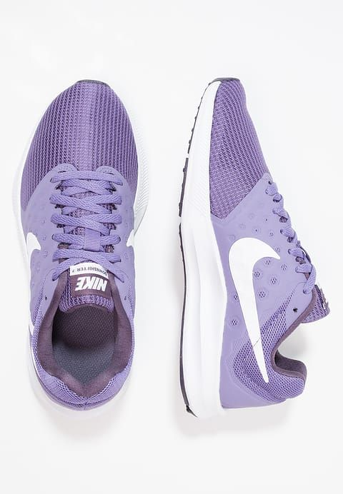 Nike Performance DOWNSHIFTER 7 - Neutral running shoes - purple earth/white/dark raisin for £33.59 (26/06/17) with free delivery at Zalando