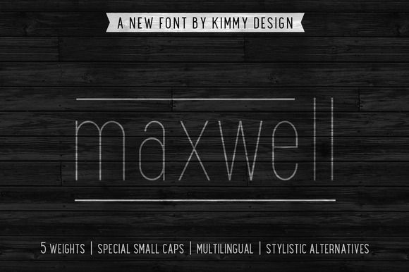Maxwell is a clean condensed san serif typeface inspired by similar retro fonts from the 1950's