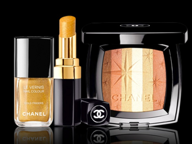 Chanel goes gold.   http://www.nbcmiami.com/the-scene/fashion/The-Beauty-Beat--145804035.html