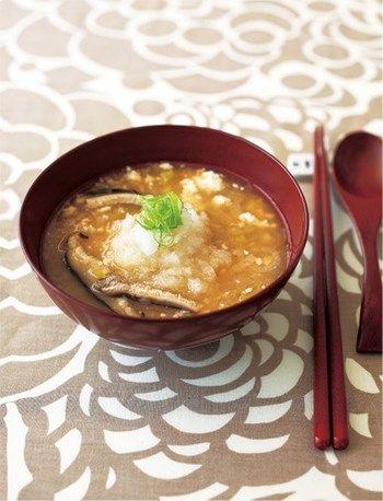 変わり種の<お味噌汁>で日々の食卓にちょっぴり変化をつけよう ... 大根おろしを入れたみぞれ汁。消化吸収を助けてくれたり風邪予防