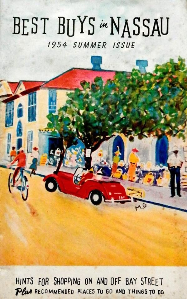 Cover of Best Buys in Nassau magazine, summer 1954.