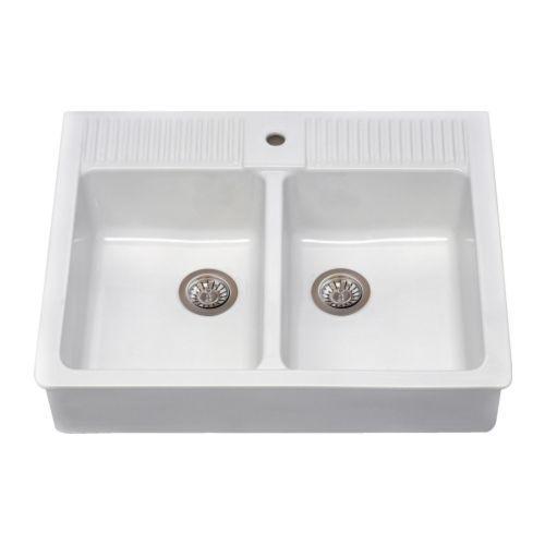IKEA Domsjo Double Bowl Sink