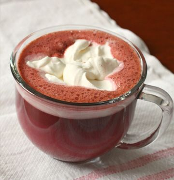 Red velvet hot chocolate recipeHot Chocolates Recipe, Sasaki Time, Food, Hotchocolate, Red Velvet Hot Chocolates, Hot Chocolate Recipes, Cake Boxes, Drinks, Hot Cocoa