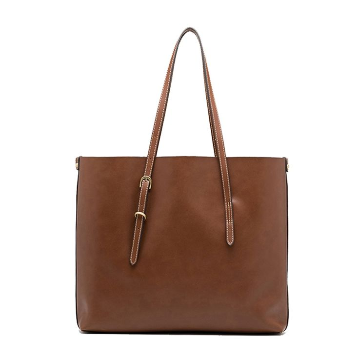 Brown Leather Tote Bag via Women's Fashion Bags. Click on the image to see more!