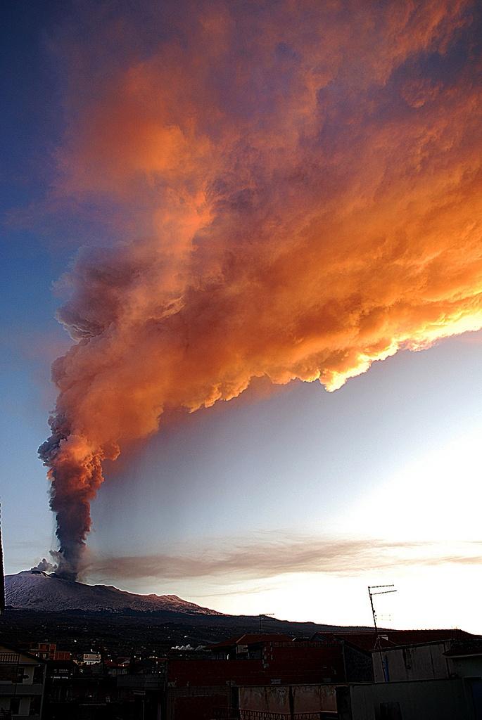 Etna erupts, Sicily