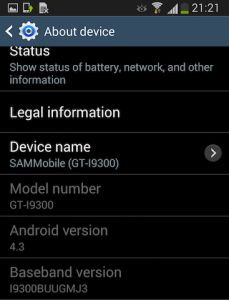 Android 4.3 For Galaxy S3 GT-I9300 Leaked