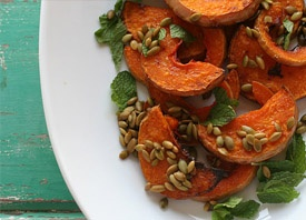 Roasted Squash with Mint and Pumpkin Seeds | Fabulous Food ...