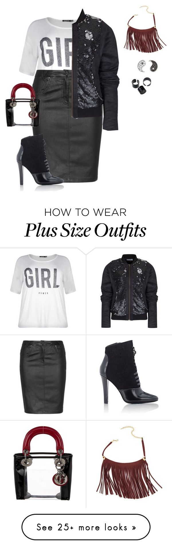 """""""plus size fall night out lk"""" by xtrak on Polyvore featuring Boohoo, Zhenzi, Rachel McMillan, 3.1 Phillip Lim, Christian Dior and Sydney Evan"""