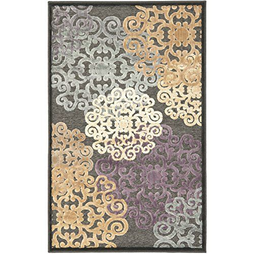 Safavieh Paradise Collection PAR102330 Charcoal and Multi Viscose Area Rug 27 x 4 ** Click on the image for additional details.