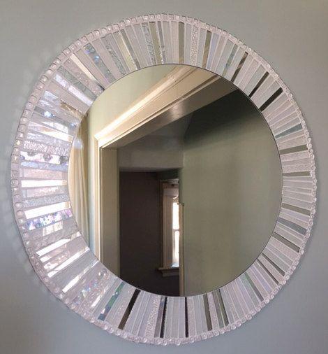 1000 id es sur le th me miroirs mosa que sur pinterest for Miroir rond mosaique