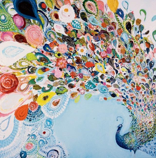 """A Copious Season"" by Starla Halfmann: Wall Art, Peacock Art, Oil Paintings, Frames Prints, Starla Halfmann, Art Prints, Peacock Colors, Design Blog, Copious Seasons"
