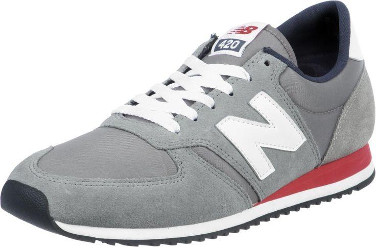 Chaussures New Balance U420 Pour Homme - coloris: gris/rouge