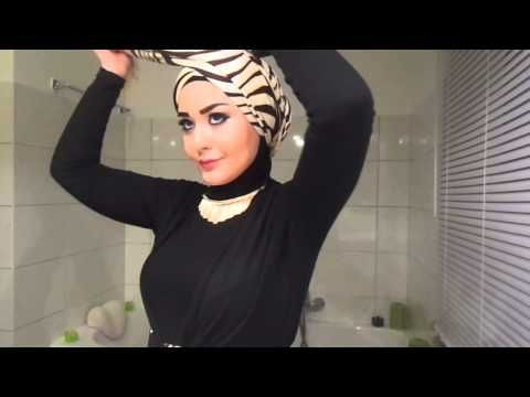 Tutoriel Hijab avec lunettes - Hijab with glasses Tutorial - YouTube