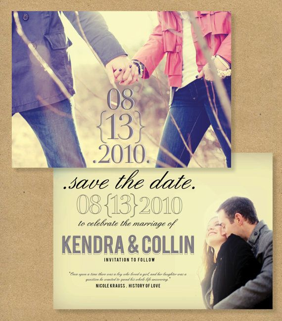 SAVE THE DATE  Printed or Printable personalized photo by HENANDCO, $20.00