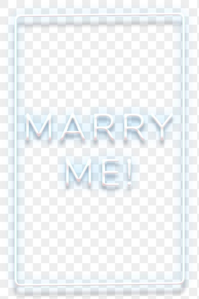 Glowing Marry Me Blue Neon Typography Design Element Free Image By Rawpixel Com Hein Neon Typography Neon Typography Design Typography Design