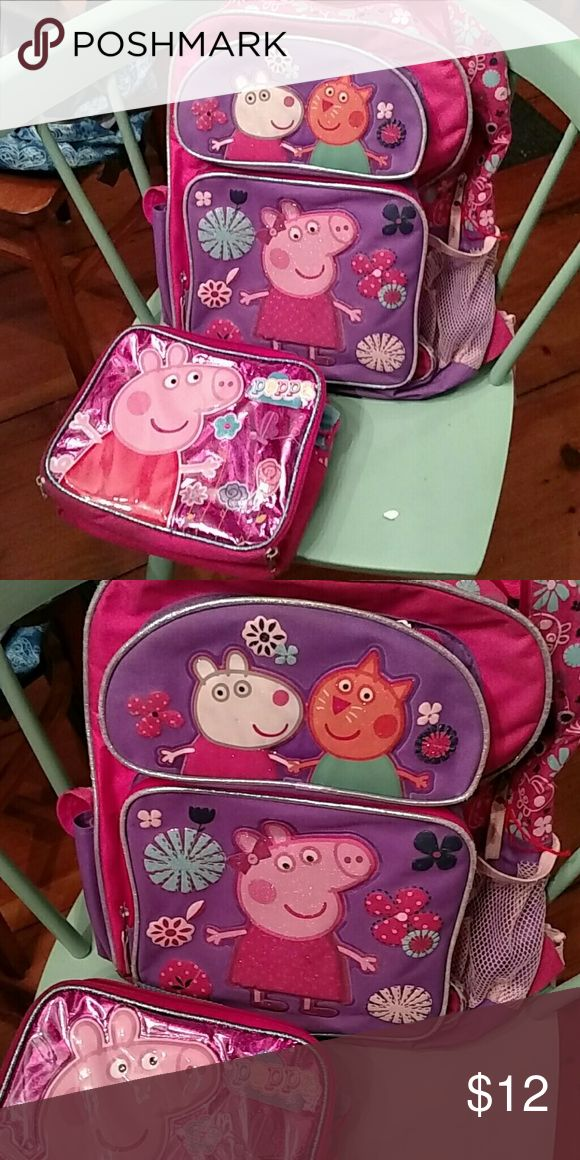 Peppa pig school bag and lunch box Peppa pig back back and lunch box Peppa Pig Other