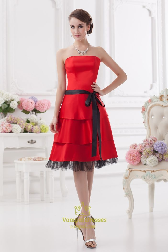 Red Cocktail Dresses For Juniors Canada Red And Black