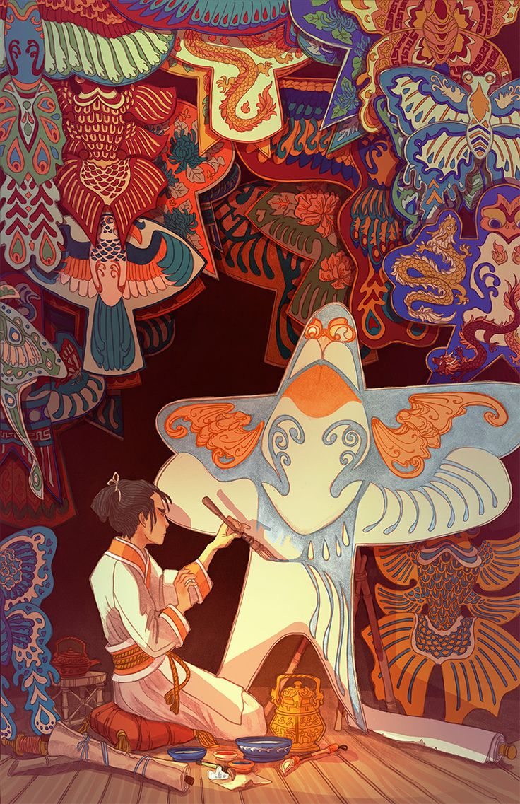 The Kite Painter - Caitlyn Kurilich Illustration