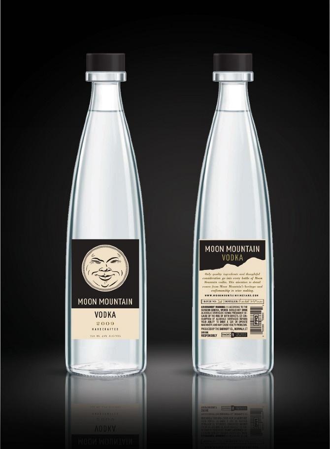 Moon Mountain Vodka packaging design - Art direction by New York-based graphic designer Nick Agin