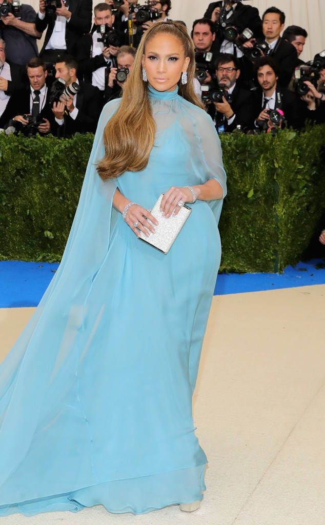 Jennifer Lopez from 2017 Met Gala...  Beautiful. Change the colors to fit the wedding theme.