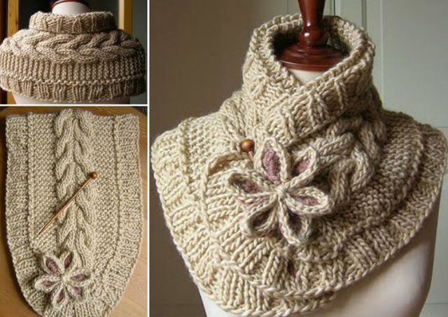 How to DIY Pretty Cable Knitted Scarfette