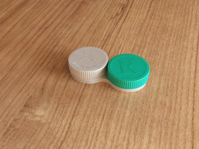 a container for contact lenses