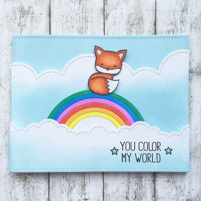Interactive Card With The Cutest Fox Ever! Find This Pin And More On Lawn  Fawn You Color My World ...