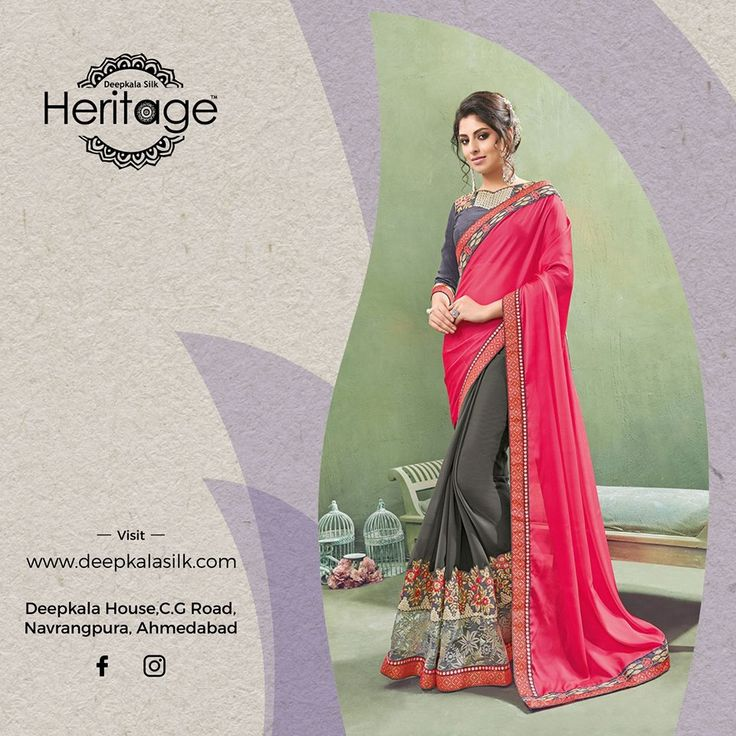 Deepkala Silk Heritage presents you with a perfect blend of latest fashion trends and rich traditional taste  https://www.deepkalasilk.com/pink-and-grey-georgette-saree-10441.html  #Cotton #Beauty #boldness #deepkala #silk #heritage #deepkalasilkheritage #TraditionalWear #BeSpoke #SalwarSuits #Lehenga #Saree #pink #grey