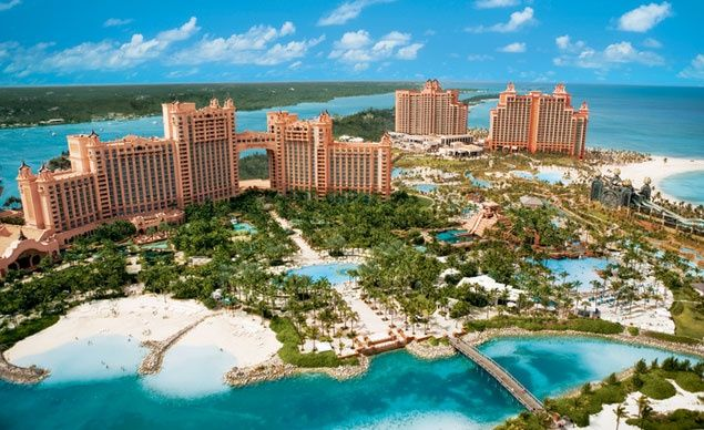 #10 Nassau, Bahamas. The Bahamas attracts millions of U.S. visitors to its busy capital ever year with picture-postcard promises of beautiful beaches and lazy seaside resorts. Shown here, Atlantis Paradise Resort. (From: Photos: 10 Most Visited Cities in the World)