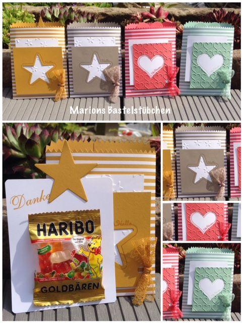 Marions Bastelstübchen: Leckereientüten mit süßem Inhalt