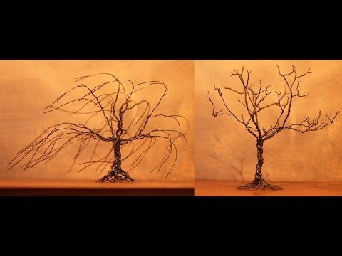 Alberi Bonsai in fil di ferro - Wire Bonsai Trees