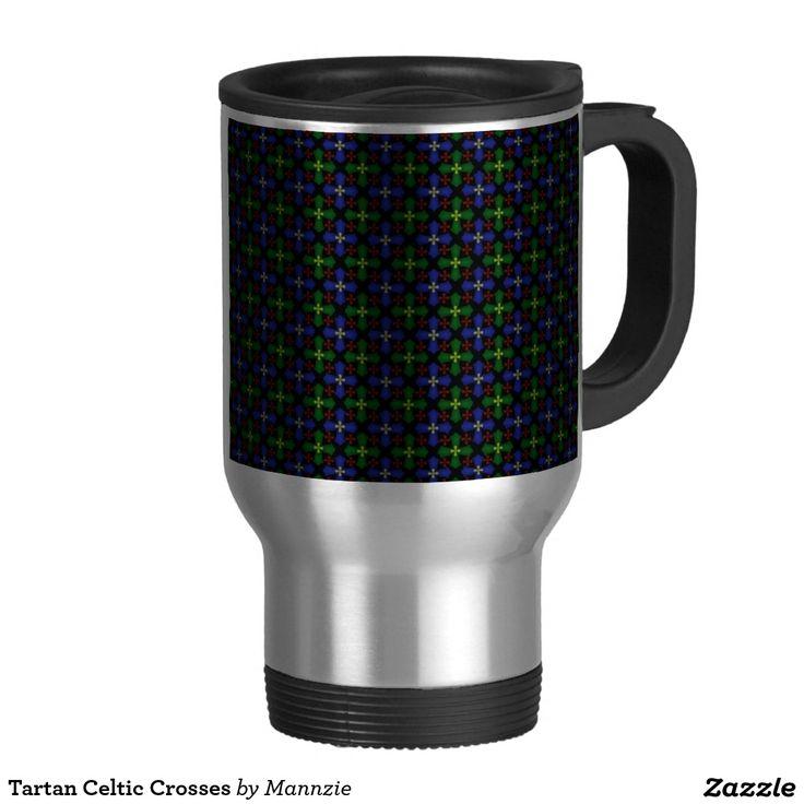Tartan Celtic Crosses Travel Mug