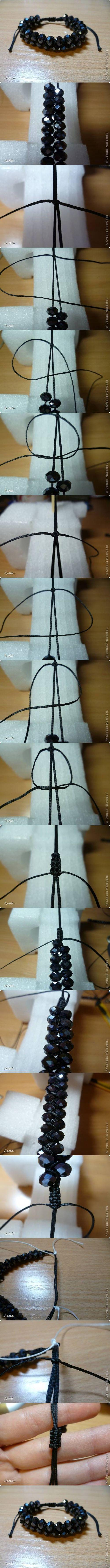 DIY Dual Shambhala Bracelet DIY Projects / UsefulDIY.com