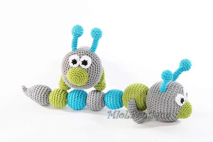 Teething baby toy Crochet baby toy  Grasping and by MioLBoutique