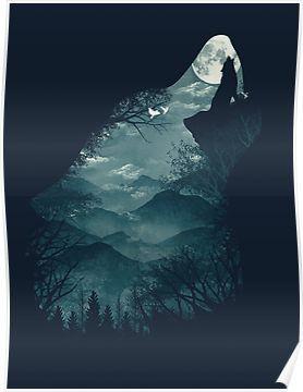 'Hungry Wolf' Poster by Dan Elijah Fajardo – Wolf