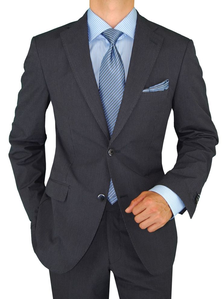 Charcoal gray suit combinations the for Charcoal suit shirt tie combinations