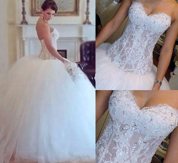 Gorgeous Sexy Weddings Dresses,Beading Weddings Dresses,White Lace Weddings Dresses,Ball Gown Wedding Gowns,Strapless Wedding Dresses