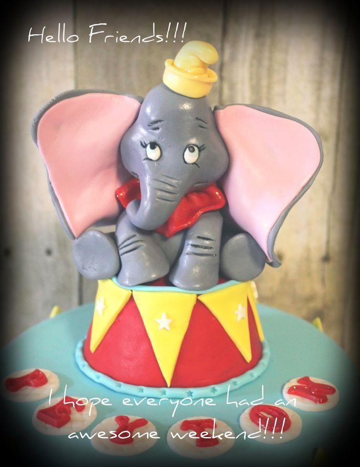 Dumbo Fondant Cake Topper