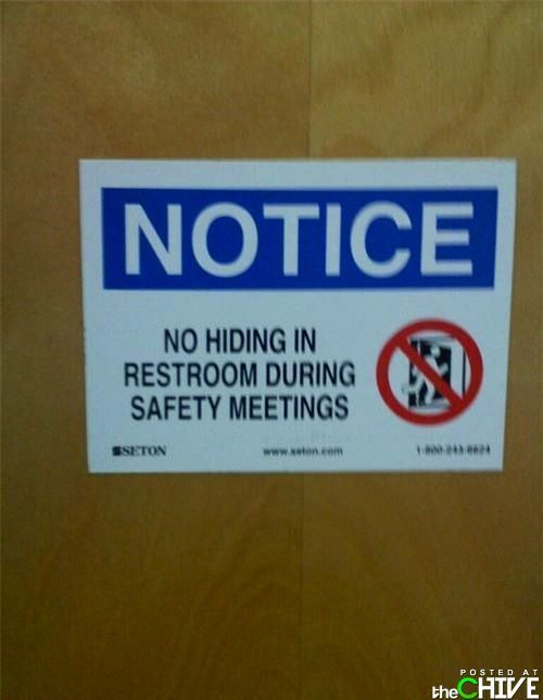 safety meeting | hate my job