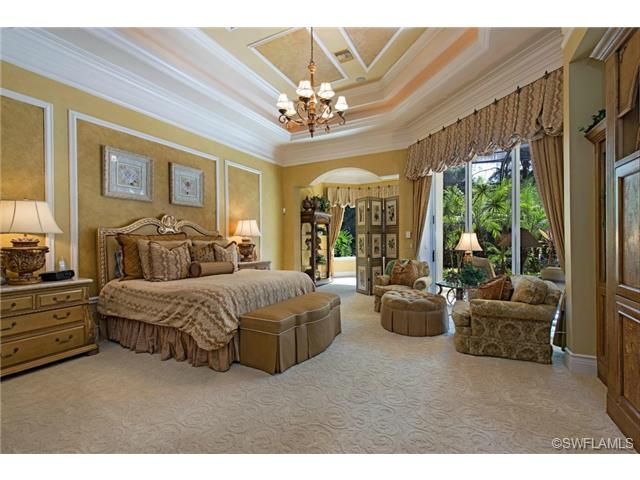 Traditional master bedroom grey oaks in naples fl for Traditional master bedroom designs