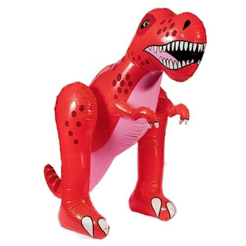 Dinofans opgelet! Te gekke opblaasbare dinosaurus T-Rex te koop bij Feestwinkel Altijd Feest. Deze T-Rex is van uitstekende kwaliteit plastic en een lichtgewicht dus gemakkelijk te verslepen door uw kind. Kijk voor dino feestartikelen bij Feestwinkel Altijd Feest.  http://www.altijdfeestwinkel.nl/c-3438253/dinosaurus-feest/