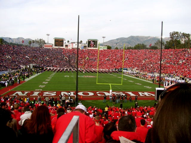 Two years in a row, baby! Rose Bowl. Wisconsin vs. TCU 2011