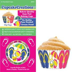 Jandal Jandals standard cupcake papers (Heavy Duty). One of many items in our Kiwiana range at Kiwicakes