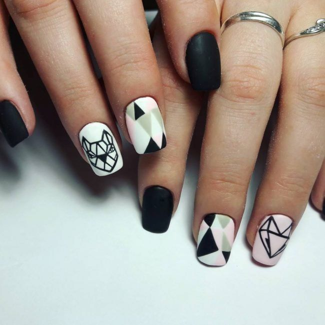 Pin by Petra Nägel on nails | Matte black nails, Matte nails