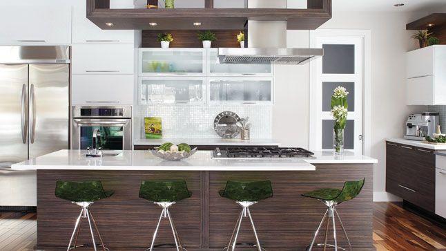 Du vert en accent dans la cuisine  Photo: Yves Lefebvre