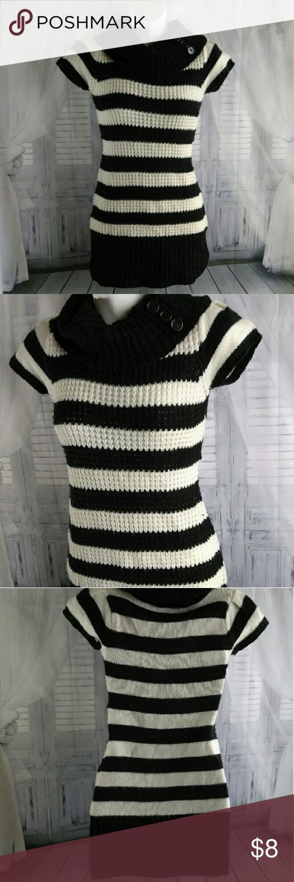 Knitted Cowl Neck Sweater Striped cowl neck Cherry Stix Dresses