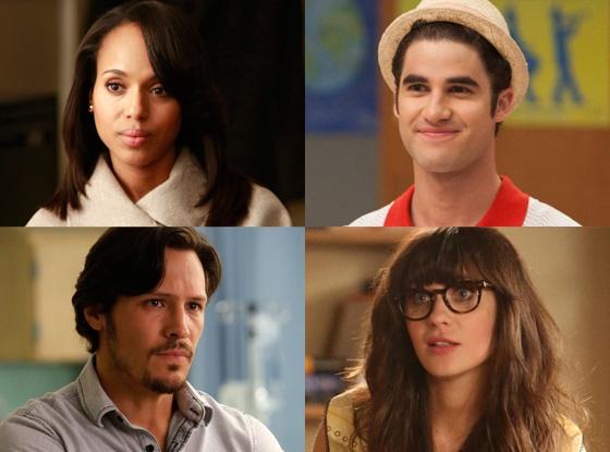 Tv season finale schedule: Darren Criss, Glee, Kerry Washington, Scandal, Nick Wechsler, Revenge, Zooey Deschanel, New Girl