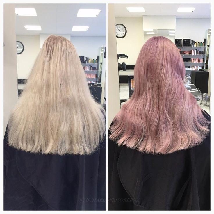 En trend som verkligen håller i sig bland våra kunder är dessa rosa hår, väldigt roligt och snyggt tycker vi 💕 #pinkhair #lorealproffessionel #pastelhair #fusiodose #kerastase
